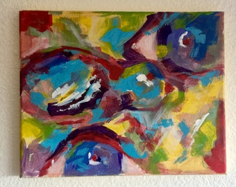 Abstract Sparrows 8x10