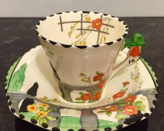 Burleigh Ware Riviera Coffee Cup and Saucer