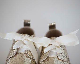 ivory ribbon laces - for maisie oxfords (soft sole baby shoes)