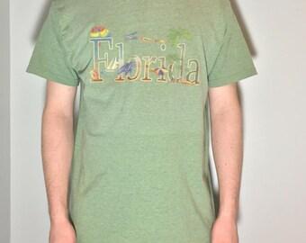 Green Florida Men T-Shirt - Vintage Clothing