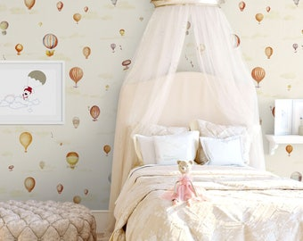 Kids Fantasy Balloons Wallpaper, Nursery Baby Kids Wallpaper, Balloons  Removable Wall Decor, Self Part 67