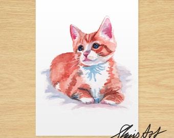 Custom Pet Portrait Art, Watercolour Original Painting, Watercolor, Commission, Custom Gift for Animal Lovers, Dog, Cat, Puppy, Kitten