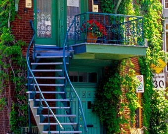 POSTCARD : LE PLATEAU Staircase, Montréal, Popular, Postcard Set, Plateau-Mont-Royal, Travel postcard, Montréal Photography, 4x6 Print