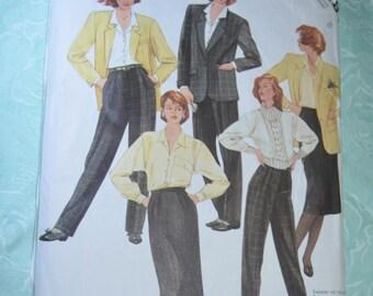 McCalls 2187 Liz Claiborne Misses Jacket Blouse Skirt and Pants Sewing Pattern - UNCUT - Size 8
