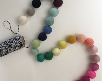 Custom Wool Ball Garland