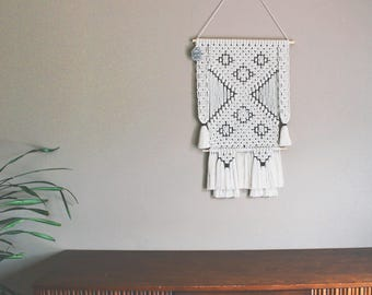 FREE SHIPPING>>>>>Handmade 100% Cotton Macrame Wall Hanging - Ready to Ship