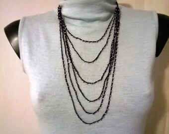 Bead crochet necklace hand made