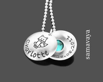 Name chain artful DODGER 925 Silver necklace for kids with engraving