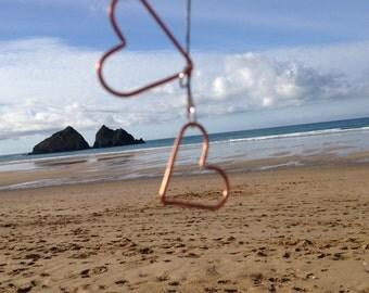 Love hearts! Copper hearts necklace