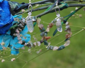 Hand Wrapped Crystal Stone Earrings
