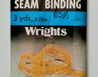 Wrights Flexi-lace Seam Binding | Bright Pink #22 | 3 YDS | 1983