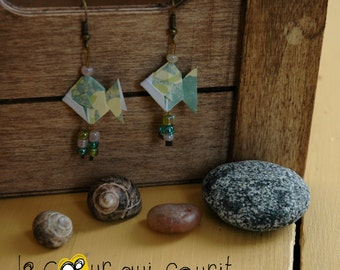 Origami (fish) - P009 earrings