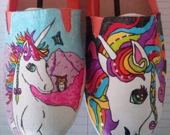 Unicorn hand painted shoes