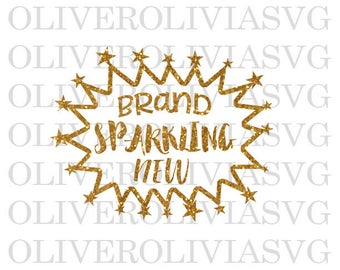Brand Sparkling New Svg Cutting File New Baby Girl Svg Cutting File Silhouette Cutting File Cricut Cutting File SVG DXF PNG File
