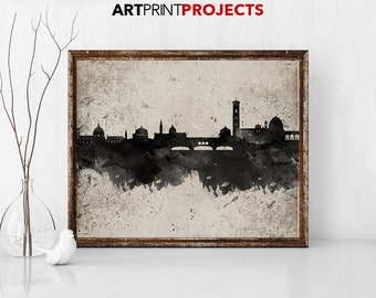 Florence, Italy art, Italy wall art,  Florence map, Florence print, Italy print,  travel print,  city maps, home decor,  ArtPrintProjects