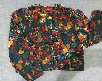Psychedelic Velvet Jacket