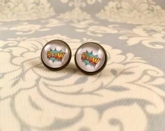 Comic Book Boom Stud Earrings