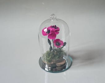 Glass Bell flower decoration * custom *.