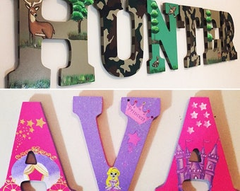 Hand-painted letter signs