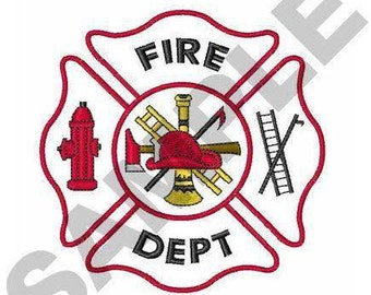 Maltese Cross Fire Dept - Machine Embroidery Design