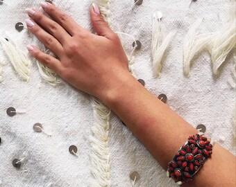 Sterling Silver Cuff, Tribal Cuff Bracelet, Moroccan Jewelry, Boho Bracelet, Statement Cuff, Bohemian Bracelet, Gypsy Bracelet, Handmade