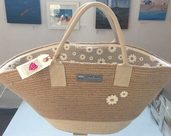 Daisy Shopping Basket/Market Bag