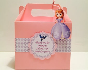 Sofia The First Party Favour Box