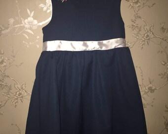 The Little Blue Linen Dress* - girls dress - party dress - kids dress