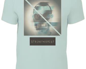 Men's T Shirt Graphic (Glitch Strike) - Stringtheorist Official Merchandise
