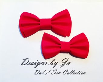 Bow Tie,Dad and Son Bow Ties, Red Bow Tie, Father Son Bow Tie,Mens Bow Tie, Bowtie,Wedding Bow Tie,Mens Bowtie, Bowtie,Boys Bow Tie DS683