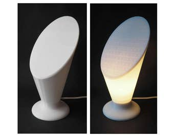 A Very Simple Desk Lamp, 3D printed in white
