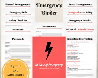 In Case of Emergency Printable