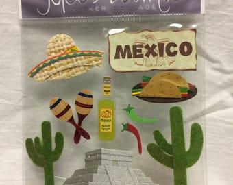 Jolee's Boutique Dimensional Mexico Sticker, Mexico Stickers