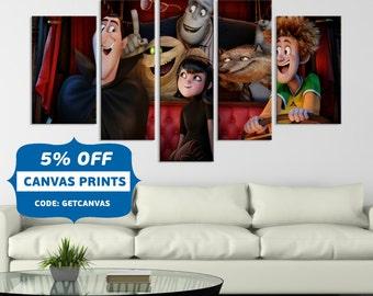 Hotel Transylvania, Hotel Transylvania Childrens Movie, Cartoon Wall Art Prints, Art Kids Room, Wall Art Canvas ,Count Dracula art