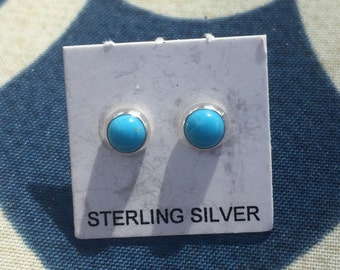 Sterling Silver Turquoise stud earrings, Turquoise Earrings, Stud Earrings