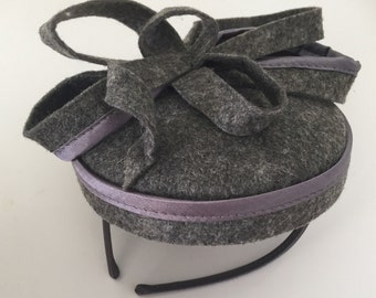 Mini felt fascinator headband