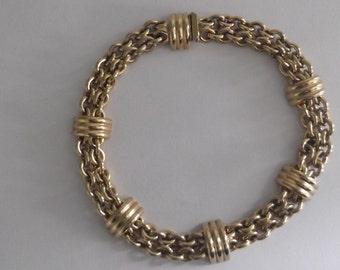 Vintage Gilded designer Necklace