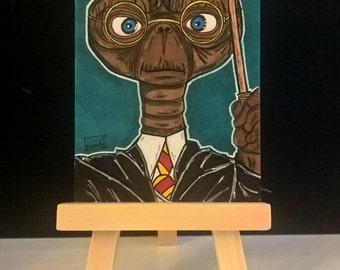 ET  (as Harry Potter) Sketchcard