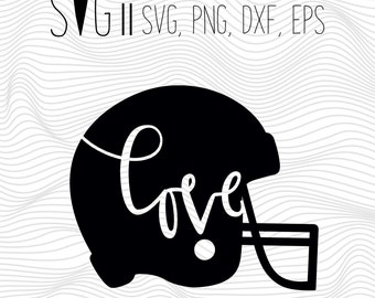 Love Football Svg, Sports Svg, Football Svg Files For Silhouette, Svg For Cricut, Football Love Svg, Football Vinyl Decal Files Monogram Svg