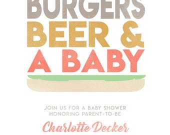 Baby Shower - Burgers & Beer