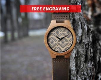 Wooden watch, Wood watch, mens watch,Engraved Wooden Watch,Groomsmen Gift,father day gift,wood watch for man,Anniversary Gift,Boyfriend Gift