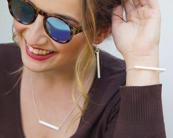 Minimal bar x5, Jewellery supplies, Horizontal bar bijoux, Minimal charms, Minimal vertical bar earring, Bar lasercut wood plexiglas-SET 5pz
