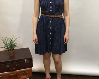 1980s Polka dot Dress