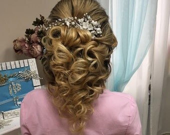 Bridal hairpiece Wedding hairpiece Bridal headpiece Wedding headpiece Wedding hair accessories Bridal headband Bridal hair piece Flower hair