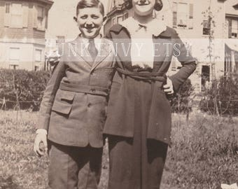 Antique Photograph . Mother and Son . Siblings . Digital Download . High Resolution Scan
