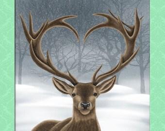 Digital animal portrait + background