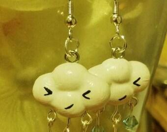 Kawaii Rain Cloud Earrings