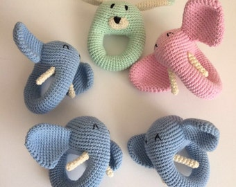 Hand knitted toys, soft toys