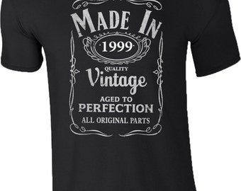 Made In 1999 T Shirt 18 Years Idea 18th Birthday Gift Retro Mens Tee Top