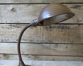 Cast Iron Industrial Gooseneck Desk Table Lamp